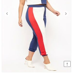 Forever 21 Plus Size High-Waist Colorblock Joggers